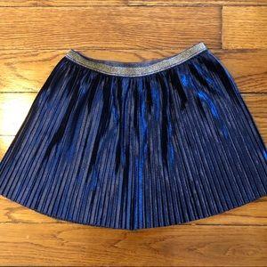 OLD NAVY girls pleated velvet skirt